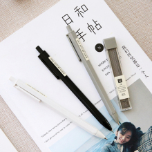 SIXONE 3 Pcs/set Simple Automatic Pencil 0,7mm 0,5mm Style Students Press Type Movable Student Supplies