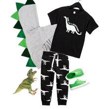 Pudcoco/комплект для мальчиков, От 6 месяцев до 5 лет, динозавр, топы с рисунками для маленьких мальчиков, футболка, штаны, наряды с леггинсами, одежда