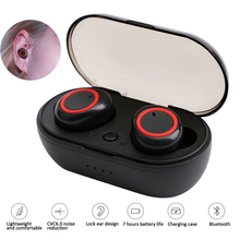 New Bluetooth Earphone TWS Wireless Mini 5.0 Stereo Sport Earbuds With Mic Portable Charging Box