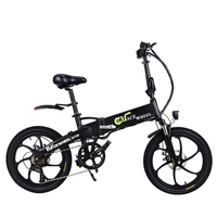 Europe Stock 20 Inch Electric Bike Magnesium Alloy Wheel 48v 10ah 350w Folding Electric Bike 7 Speed Gears 20 Folding Ebike