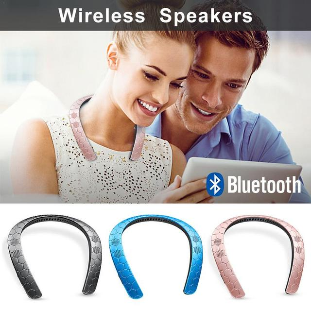 2018 New Fashion Creative Neck Hanging Speaker Portable Bluetooth 5.0 Running Speakers Dropshipping