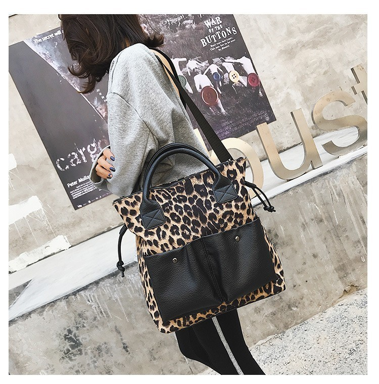 2019 New Leopard Crossbody Bags For Women Leather Handbags Female Shoulder Bag Women Messenger Bag Ladies Hand Sac Tote Bag in Top Handle Bags from Luggage Bags