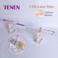 CO2 Glass Laser Tube 45W 800 mm Dia.50 Laser Lamp For Laser Carved Chapter Engraving Marker Cutting Machine Parts Double Package