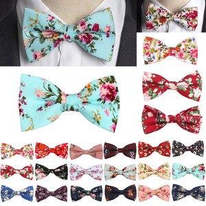 Fashion New Floral Bow Ties Cotton Print Bowtie Neckties For Men Wedding Party Business Suits Gravata Colorful Butterfly Cravats