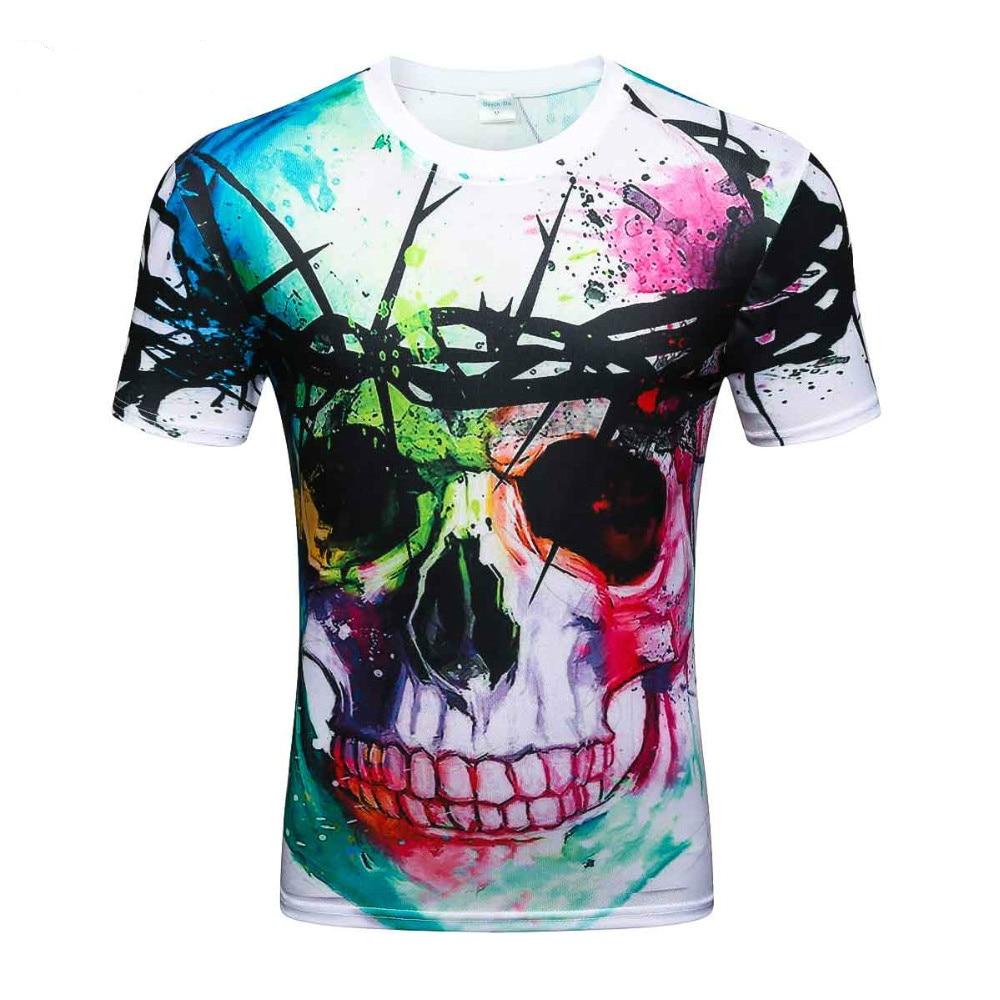 2019 New Fashion Brand   T  -  shirt   Hip Hop 3d Print Skulls Harajuku Animation 3d   T     shirt   Summer Cool Tees Tops Brand Clothing