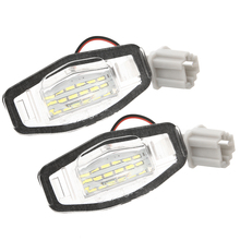Mayitr 1 Pair 18LED 12V Car Motorcycle White Bright License Plate Light Lamp For Honda Civic Accord Acura TL TSX MDX yamaha tsx 14 beige