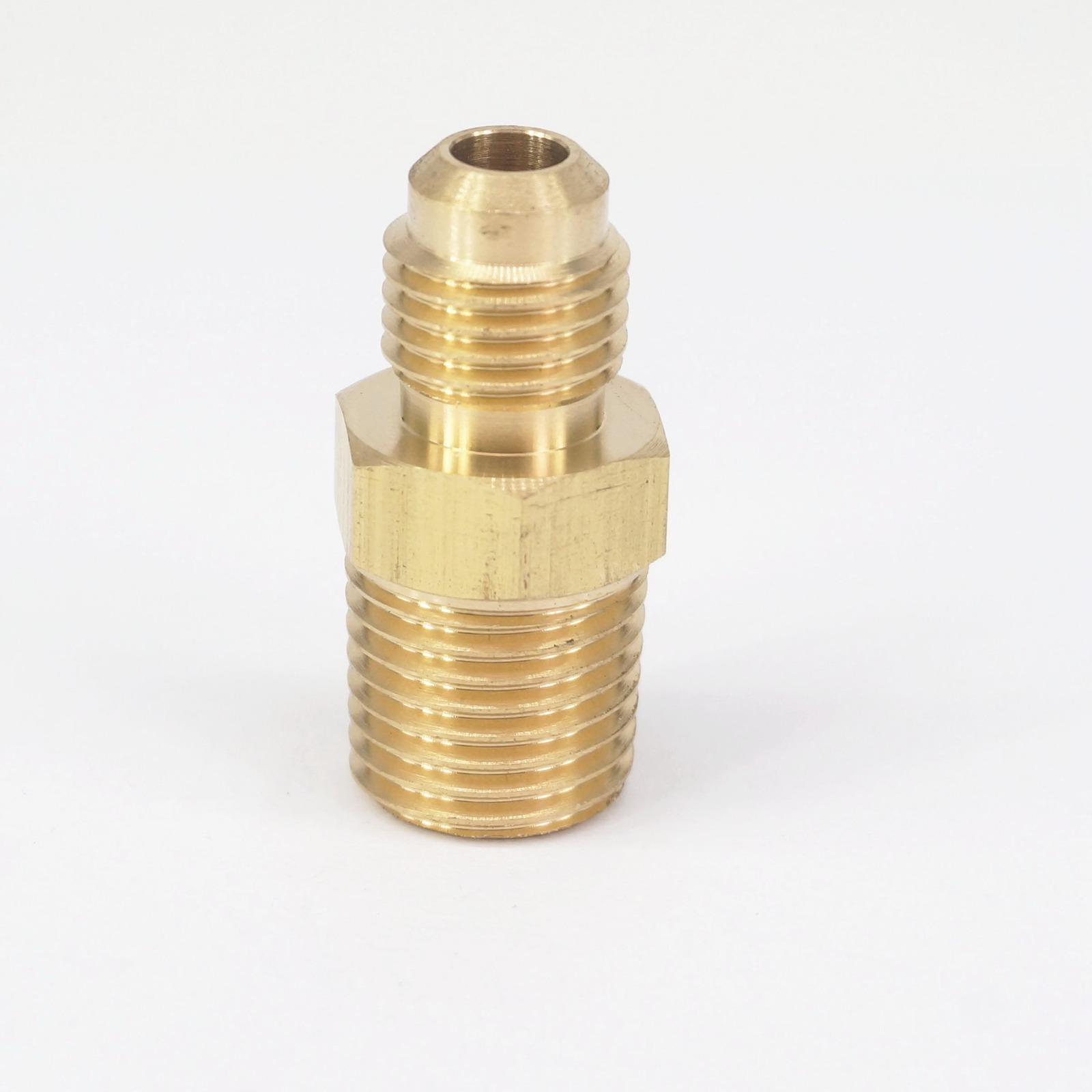 Stainless Steel 4 AN Male Flare to 1//8 NPT Male Hose Fitting Adapter