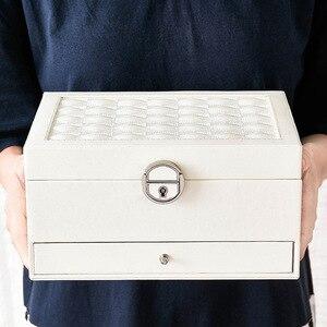 Image 5 - Шкатулка для ювелирных изделий из кожи модного дизайна, большая коробка для хранения ювелирных изделий, кольцо, ожерелье, браслет, Лидер продаж