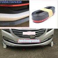 Carbon Fiber Car Front Bumper Lip for suzuki grand vitara vesta kia rio 3 camry volvo ford mondeo 4 renault duster kia sportage