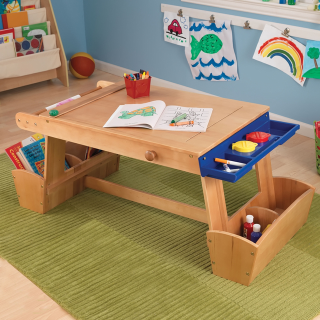 b7aba353c50f KidKraft Art Table with Drying Rack and Storage-in Dining Tables ...