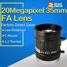 20Mega Pixel 35mm 1.1 F2.8 ITS/FA Low Distortion lens fixed focal length C Mount Industrial camera manual  Iris CCTV Lens 10mp 25mm hd industrial camera fixed manual iris focus zoom lens c mount cctv lens for cctv camera or industrial microscope