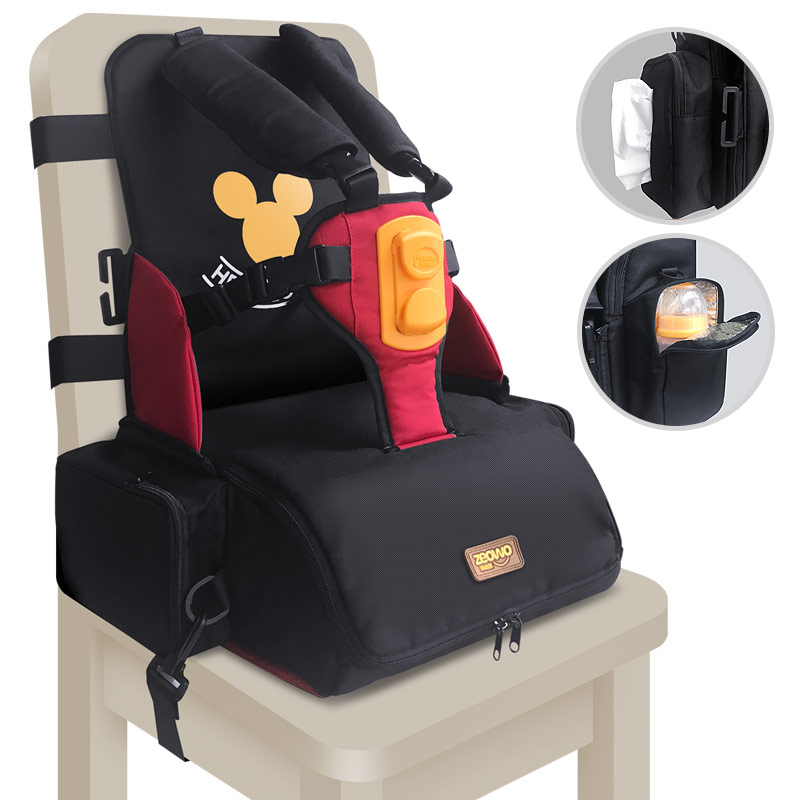Image 4 - 3 in 1 waterproof Child Car Seat Safety Seat Mommy Bag Portable Baby Feeding Booster toddler kids dining chair infant High Chair-in Car Seat Adapters from Mother & Kids