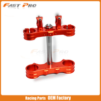 Motorcycle Triple Tree Clamps Steering And Mount Clamp Adaptor For KTM SX EXC EXCF 125 150 200 300 350 450 520 525 530 03 13