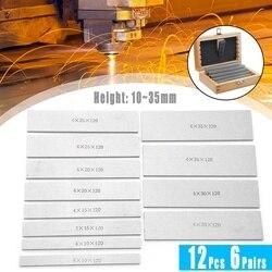 6 пар, 12 шт., параллельный блок с манометром из легированной стали, фрезерные колодки с ЧПУ, набор, 120 мм x (10-35 мм), идеально подходит для фрезерн...