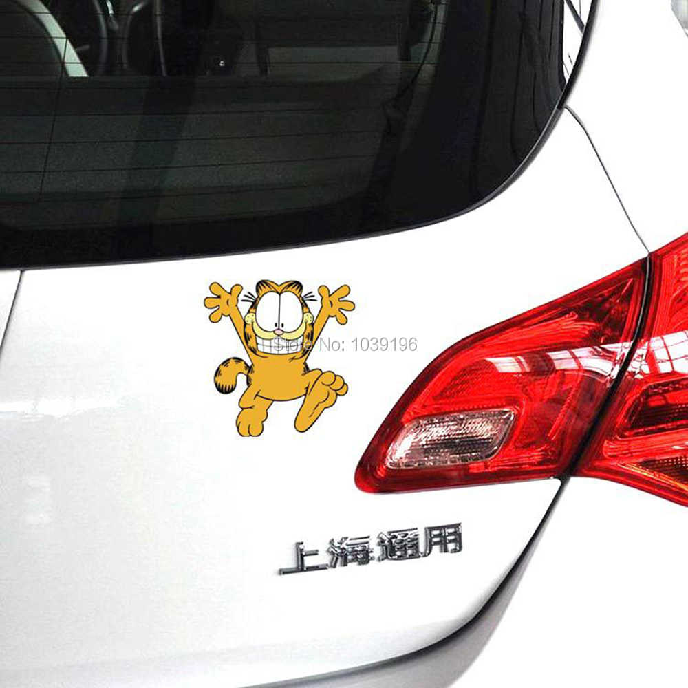 New Styling Cute Lovely Happy Garfield Running Creative Reflective Car Whole Body Trunk Stickers Decal Waterproof Vinyl Car Sticker Sticker Carcar Styling Aliexpress