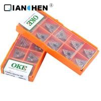 Qualidade original oke 10 pçs/lote de alta precisão alta performance alta resistência cnc TNMG160408 MF op1215 indústria carboneto inserções|Ferr. torneam.| |  -