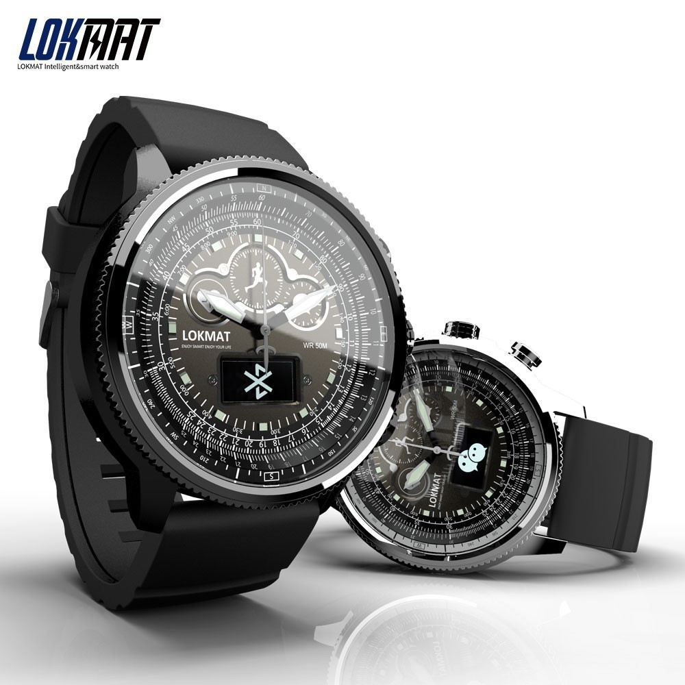 New LOKMAT Smart Watch men Sports Pedometer Bluetooth Waterproof Relogio Call Reminder smartwatch for ios Android