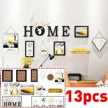 13 Pieces Modern Wall Hanging Photo Frame Set Family Picture Display Art Home Decor For Hallway Bedroom Living Room Wall Decor(China)