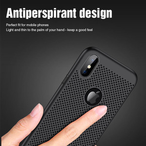 Image 2 - Ultra Slim Phone Case For iPhone 6 6s 7 8 Plus Hollow Heat Dissipation Cases Hard PC For iPhone 5 5S SE Back Cover Coque XS MAX