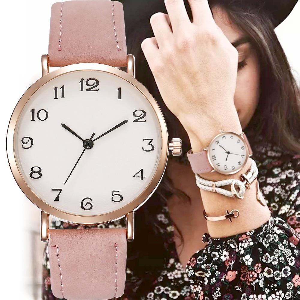 2020 Style Fashion Women's Luxury Leather Band Analog Quartz WristWatch Golden Ladies Watch Women Dress Reloj Mujer Black Clock