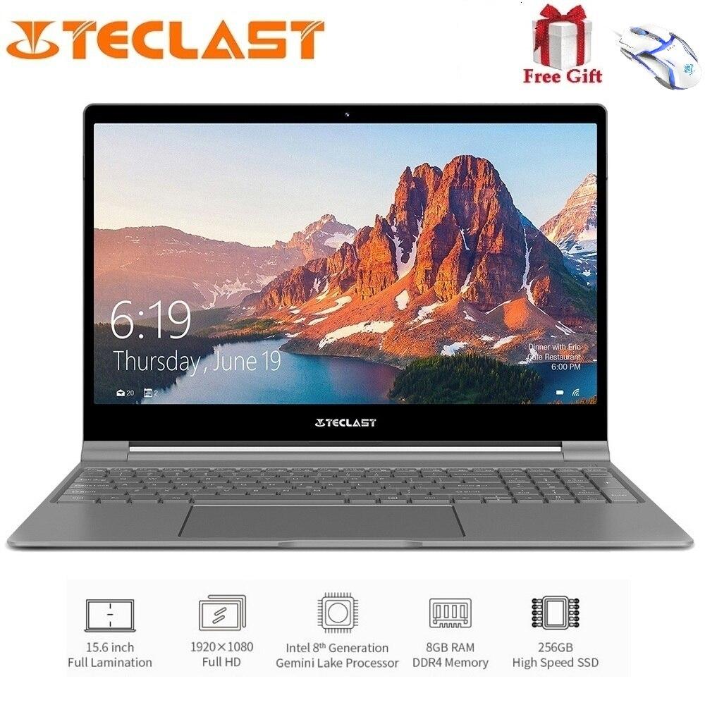 Teclast F15 Notebook 15.6 polegada 1920x1080 IPS o Windows N4100 10 Intel Quad Core 1.1 GHz 8 GB de RAM 256 GB SSD HDMI 6000 mAh Laptop