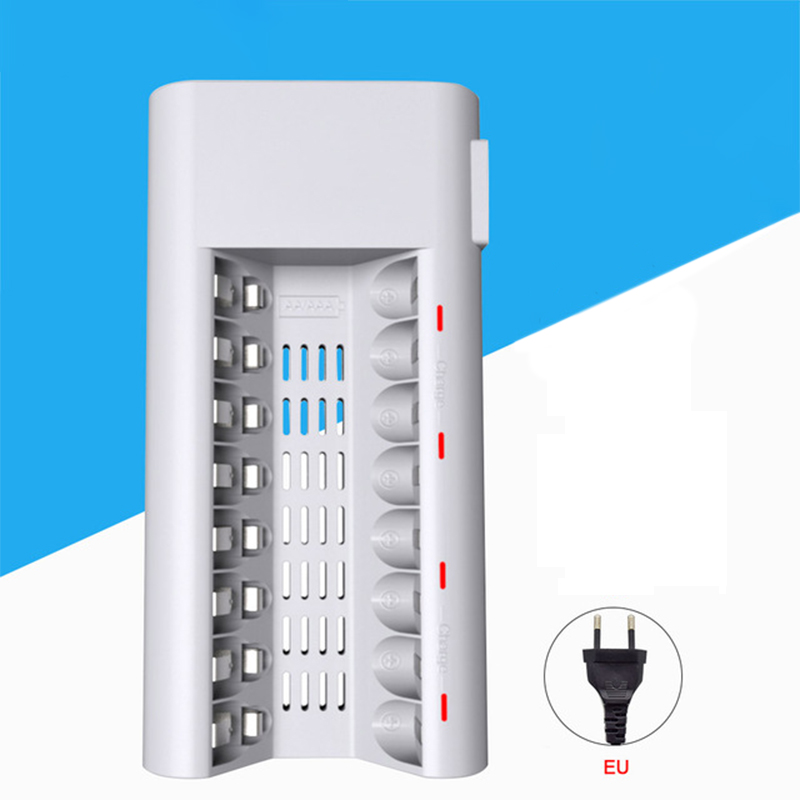 Consumer Electronics Inventive Aa Battery Charger Aa Battery Charger 8 Slots Charger For Ni-mh Ni-cd 1.2v Aa/aaa Rechargeable Battery Led Display Charger eu To Reduce Body Weight And Prolong Life Chargers