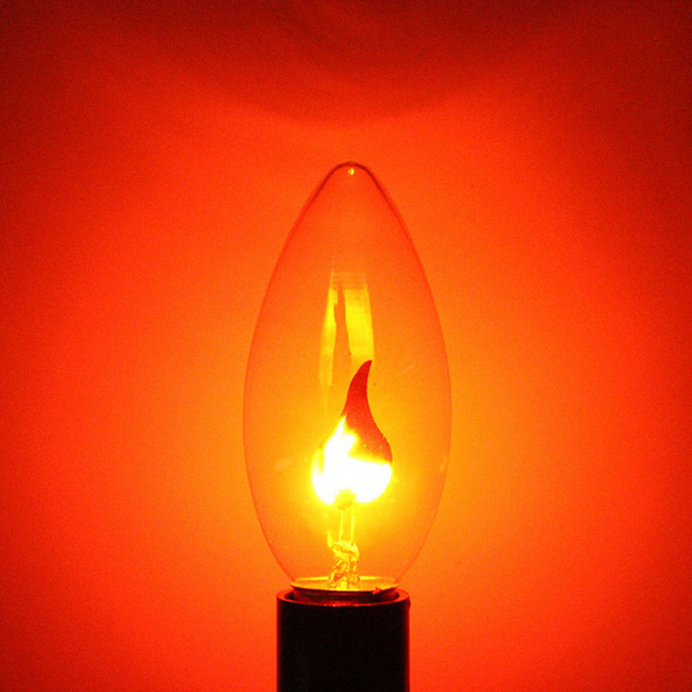 1 Pc E14 Led Licht Flimmern Feuer Flamme Kerze Warmes Licht Birne Lampe Hause Dekoration Geeignet FüR MäNner, Frauen Und Kinder