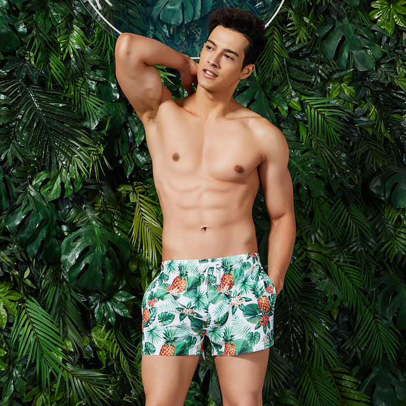 New Arrival Men's   Board     Shorts   Fruit Printed Beach   Shorts   Maldives Surfing   Short   Homme Man Beach Pants Quick Dry Swimwear S-XL