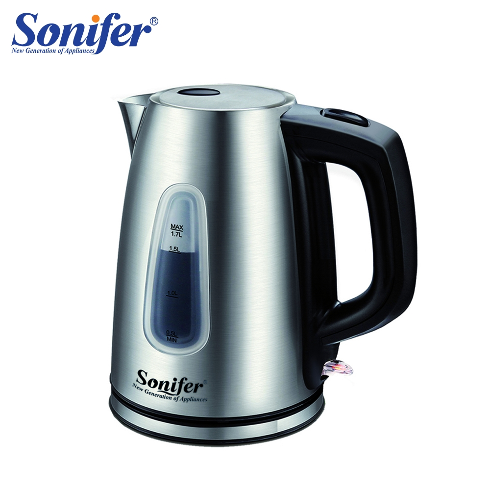 1.7L Stainless Steel Electric Kettle Household Kitchen Scale Window Quick Heating Electric Boiling Tea Pot Sonifer kettle