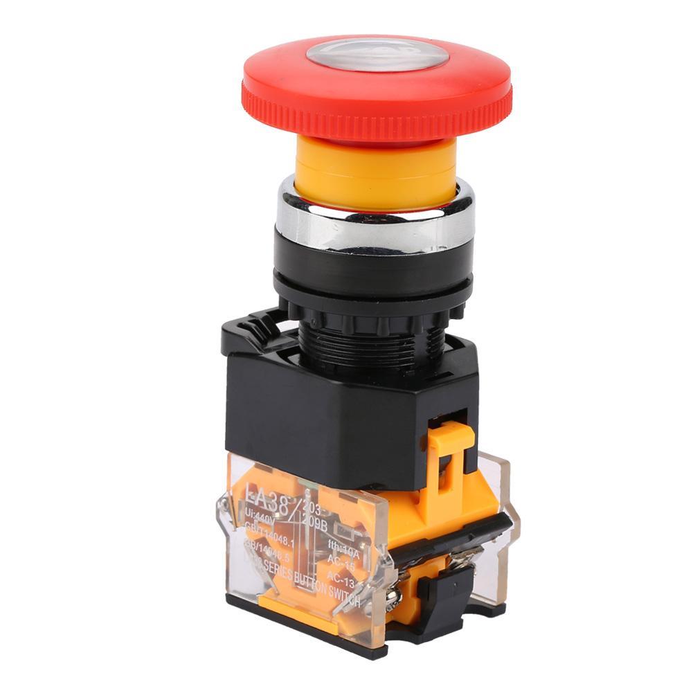 LA38 Premium Push Switch Series Machine Switch Emergency Stop Mushroom Head Pushbutton