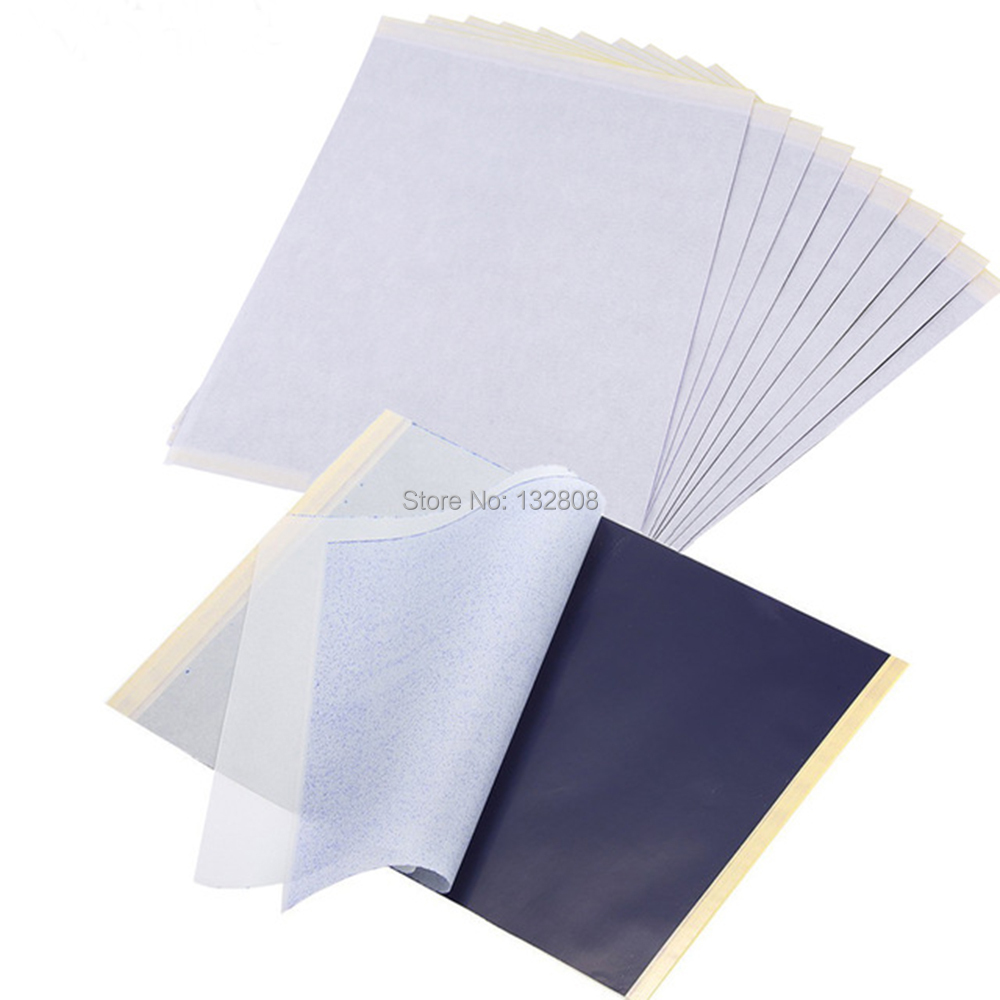 100/50/30/10pcs Tattoo Transfer Papers A4 Size Tattoo Thermal Copier Stencil Papers for Tattoo Transfer Machine Accessories