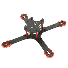 JMT J205 205mm 3mm Arm Carbon Fiber Frame Kit X Structure 4-Axle for Freestyle DIY RC Quadcopter Mini Drone FPV f cloud gepu gep vx5 through machine four axis carbon fiber through the rack x frame aluminum alloy keel structure