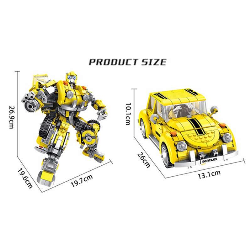 Para Bloques Coche Niños Juguetes Compatibles 8 En Con Figuras Modelo Regalo De Animados Deformado Bumblebee Construcción Robot 1 Dibujos eCxdQrWEBo