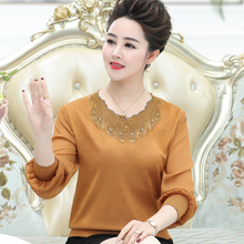Women Sweaters And Pullovers Spring Autumn Long Sleeve Pull Femme Solid Pullover Female Casual Lace Knitted Sweater Plus Size pelledoca сумка на руку