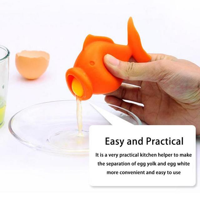 Cartoon fish shape egg separator funny egg white separator Egg