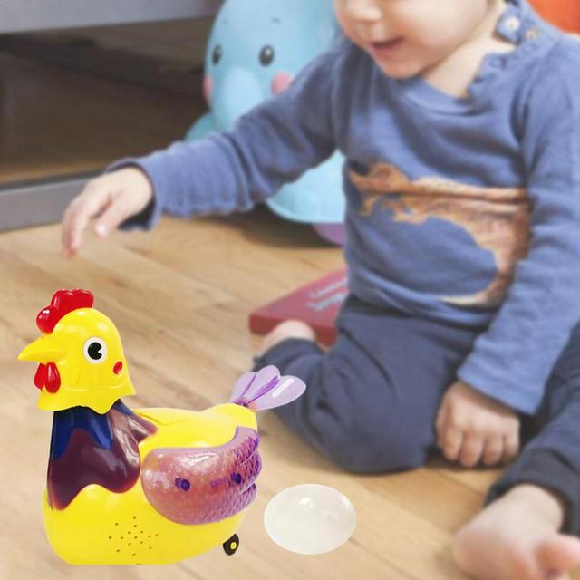 Electric Hen Toy With Music Universal Wheel Simulation Laying Egg for Children