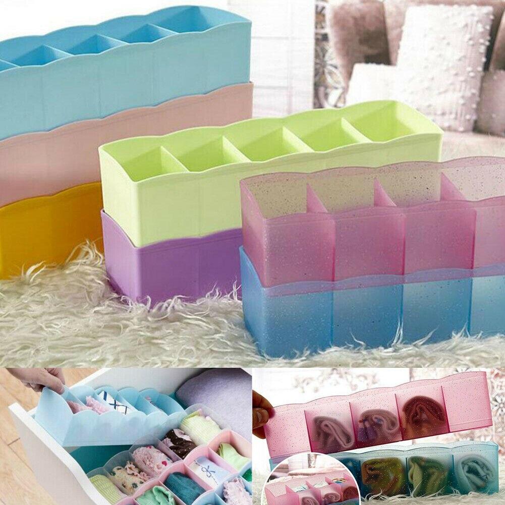 2019 New Multi-function Storage Box Clothing Organizer Underwear Socks Bra Ties Desktop Drawer Hot Plastic Storage Boxes Bins