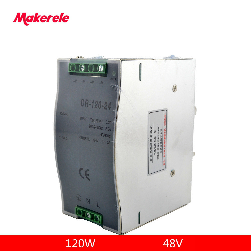 din rain power supply LED DC 48V 24A DR-120-48 Single Output Din Rail Switching Power Supply Transformer for led driverdin rain power supply LED DC 48V 24A DR-120-48 Single Output Din Rail Switching Power Supply Transformer for led driver