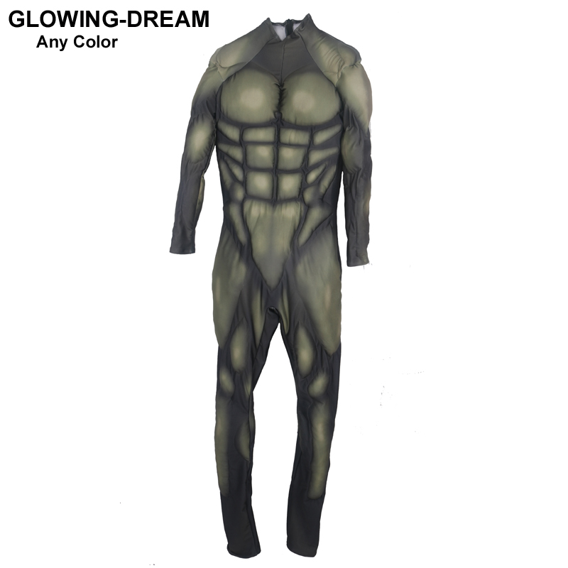 High Quality New Green Muscle Suit Custom Made Any Color