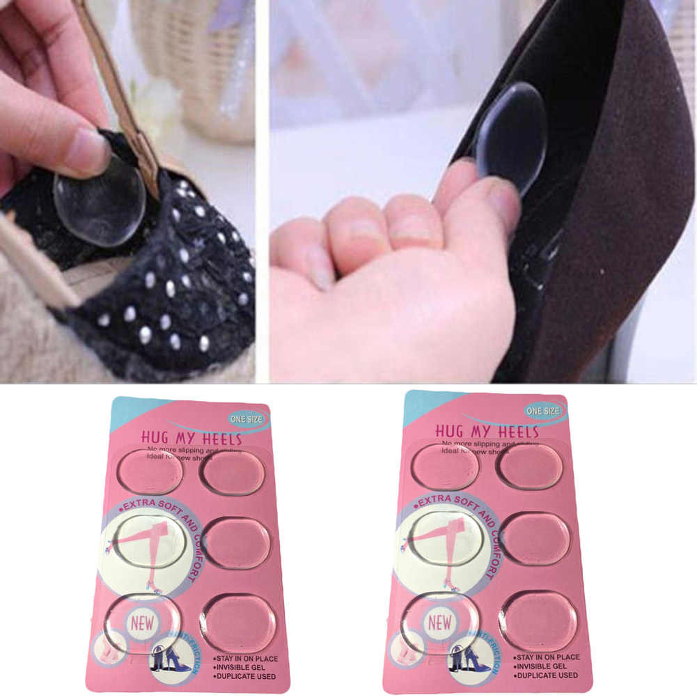 6pcs/Pack Silica Gel Stickers Small Round Insole Inserts Heel Pad Cushion Sticker Feet Care Protector