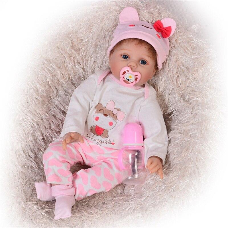 55cm Silicone souple vinyle Reborn bébé poupées pour filles réaliste enraciné Mohair Bebe Reborn poupée filles accompagnent jouet cadeau d'anniversaire-in Poupées from Jeux et loisirs    1