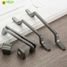 1 pc Modern  Zinc Alloy Kitchen Handles Drawer knobs Wardrobe Door Simple Furniture Handle