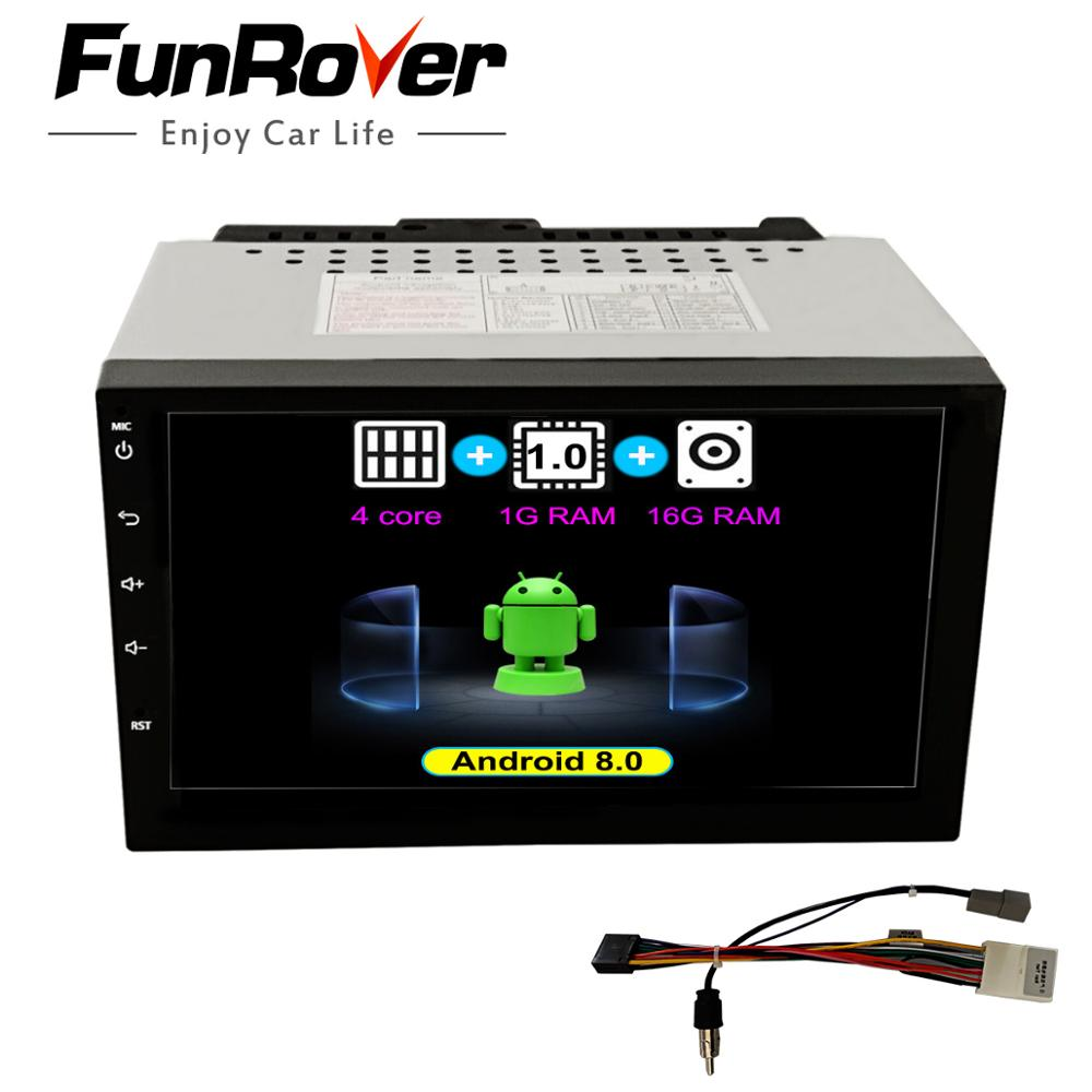 "Funrover 7"" Universal 2 din Android 8.0 Car dvd multimedia player For Nissan GPS navigation stereo radio audio tape recorder rds"