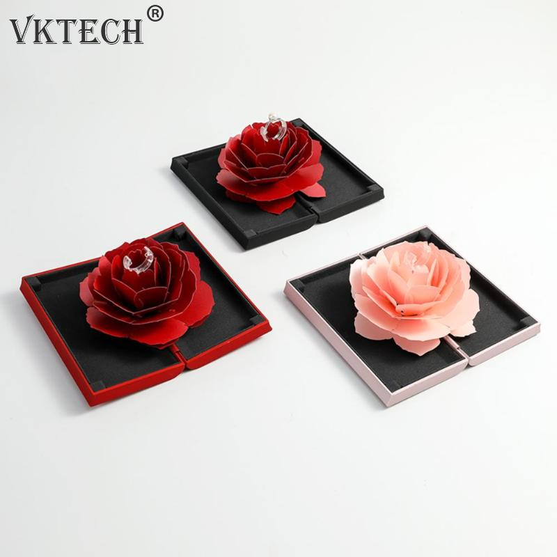 Wedding Day Gifts For Wife: Aliexpress.com : Buy Rotating Rose Ring Box For Wife