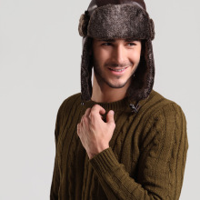 Winter Hats For Men Women Bomber Hat Fur Hat With Ears Cap W