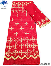 BEAUTIFICAL red swiss lace voile fabric african in switzerland 7yards/lot offer free shipping ML19R150