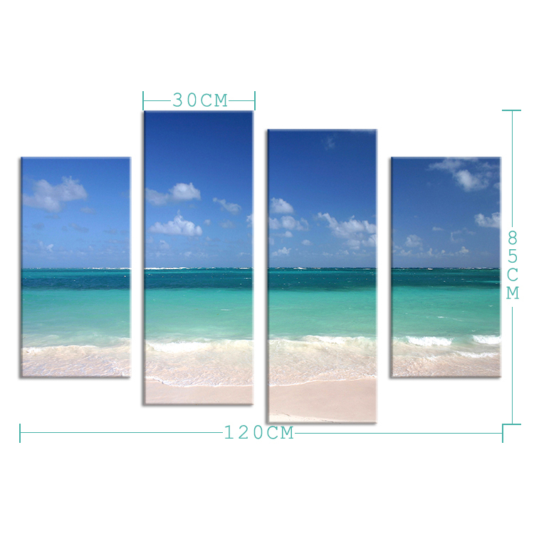 Hot Sells 4 Panels best beach in the world Painting Canvas Wall Art Picture Home Decoration Living Room Print On Canvas image