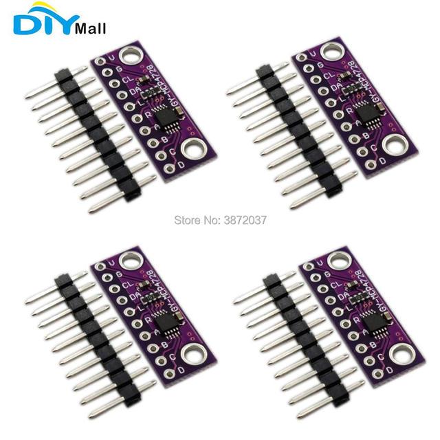 4pcs/lot DIYmall 12 Bit 12bits I2C Digital to Analog Converter DAC Breakoout Sensor Module GY MCP4728