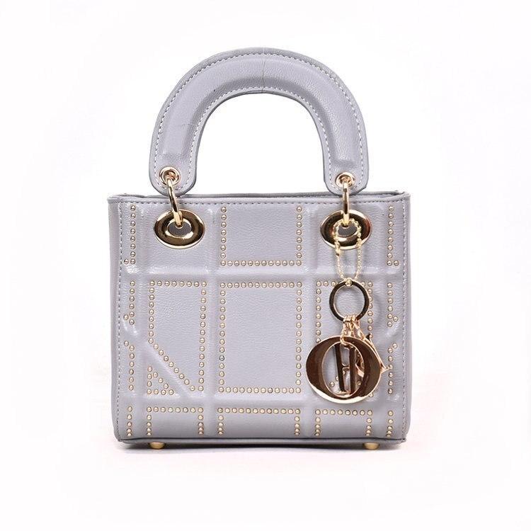 Small Rivet Ladies Hand Sling Crossbody Bags Women Leather Luxury Handbag Designer Female Shoulder Tote Bag Sac Main Pink Clutch 6