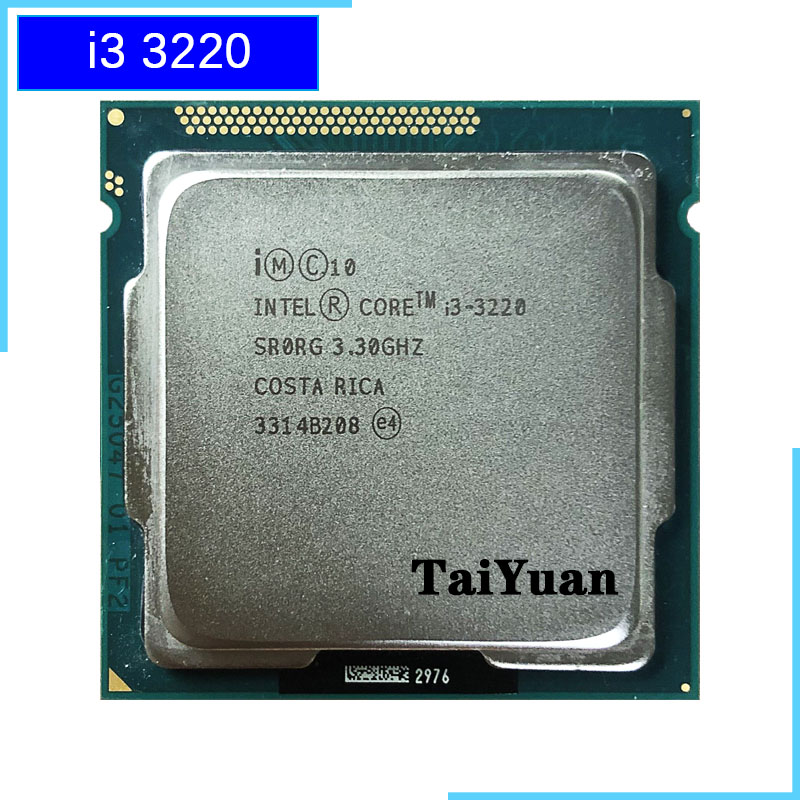 Intel Core i3 3220 3.3GHz 3M Cache Dual-Core CPU Processor SR0RG LGA1155 Tray